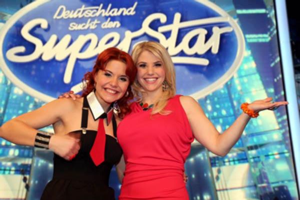 DSDS 2013 Lisa Wohlgemuth (l.) und Beatrice Egli (c) RTL / Stefan Gregorowius