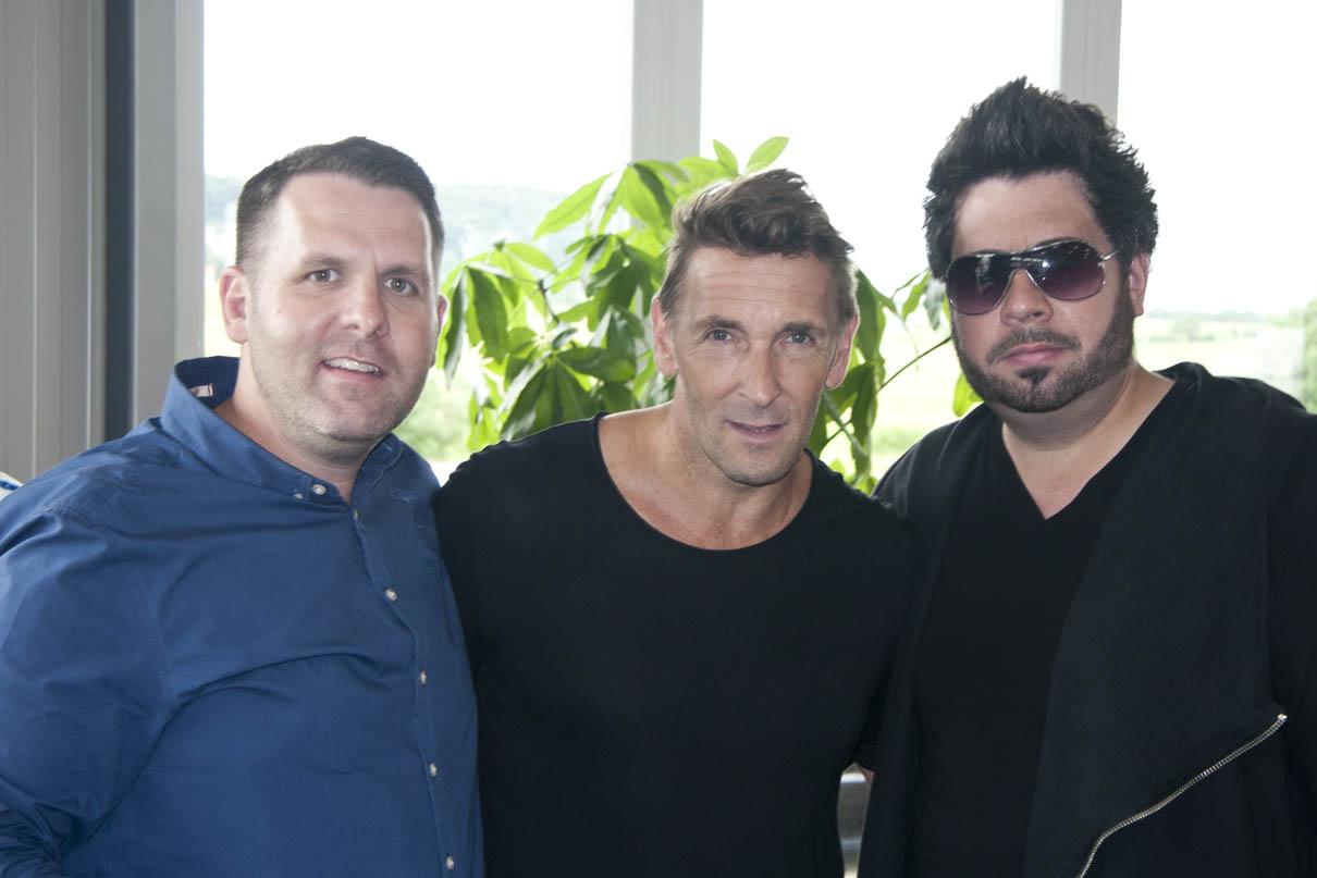 Mark Keller mit Sven und Michael Kanz