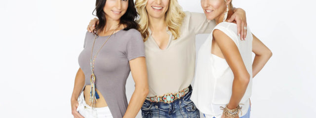Stefanie Hertel mit Anita und Alexandra Hofmann